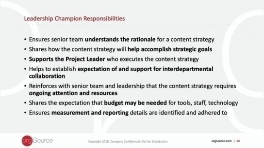 Content Strategy Program: Content Mission Statement