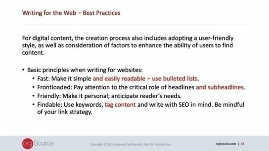 Content Strategy Program: Top 5 Tips for Writing for the Web